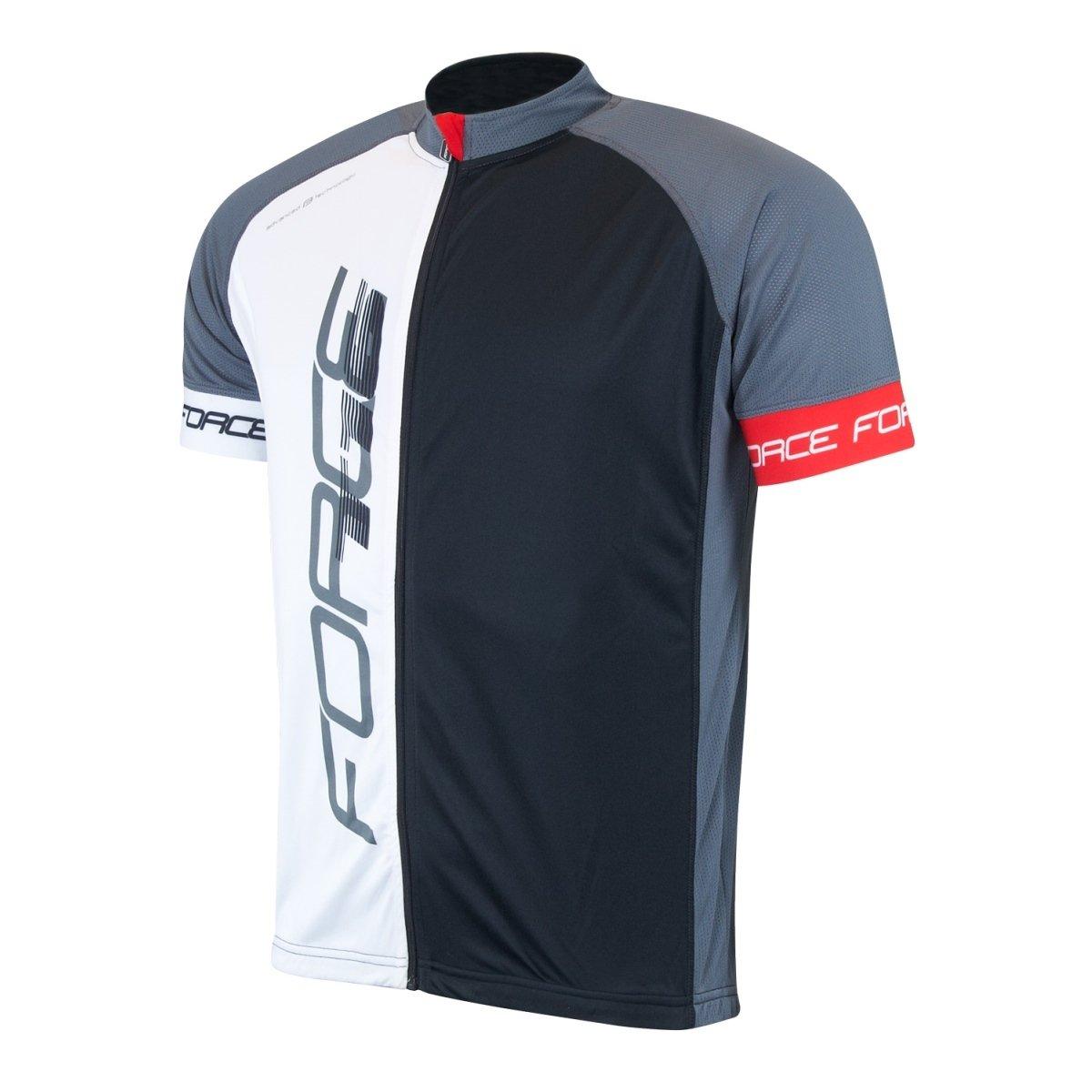 Force T16 cykeltrøje grå / sort / hvid | Trøjer