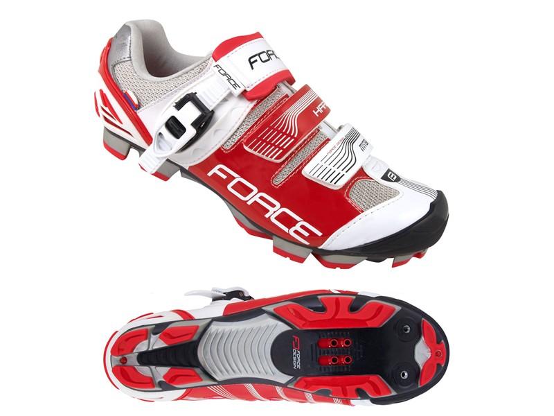 Force Hard MTB sko med klikspænde Rød/hvid