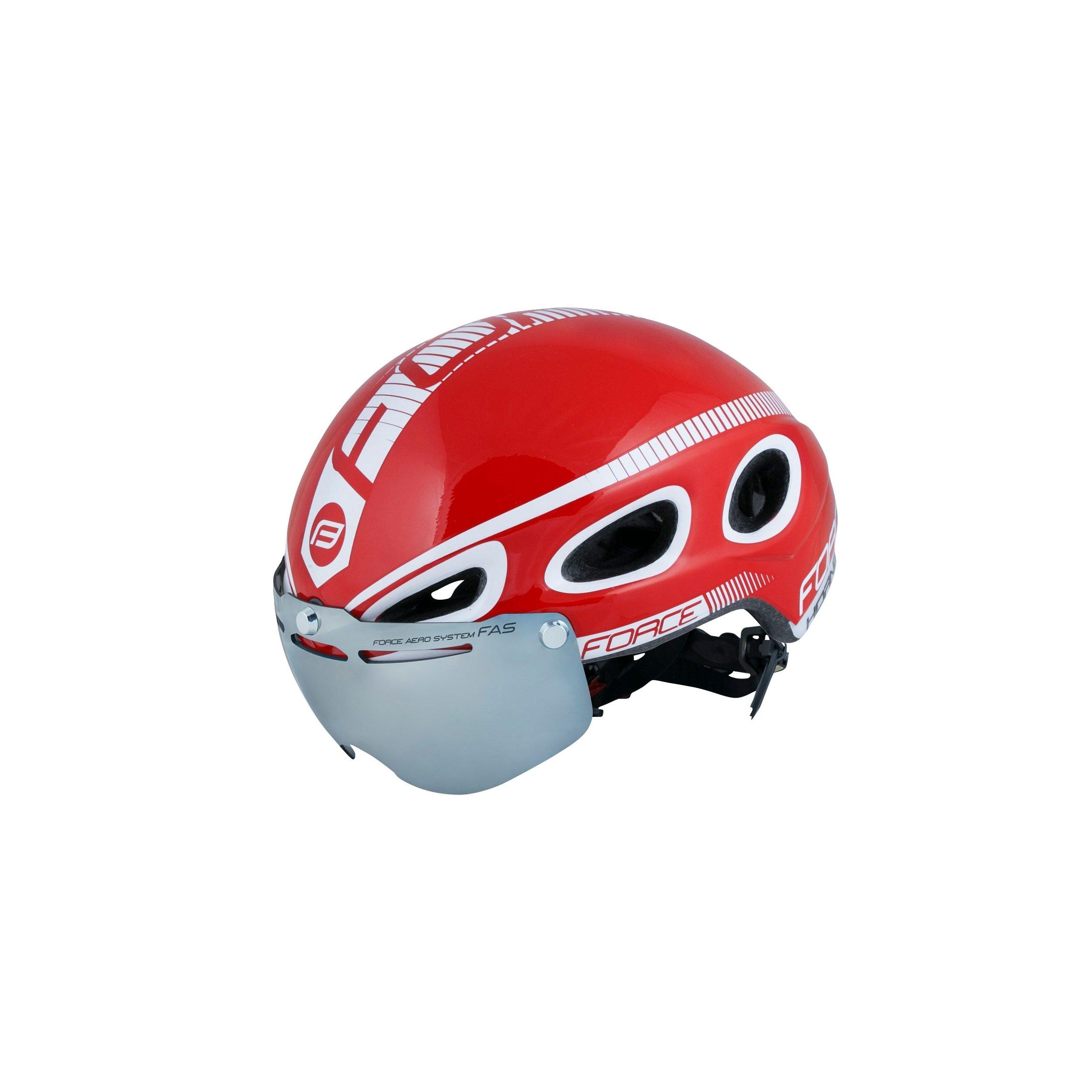 Force Hornet Aerodnamisk Hjelm med Visir Rød   Hjelme