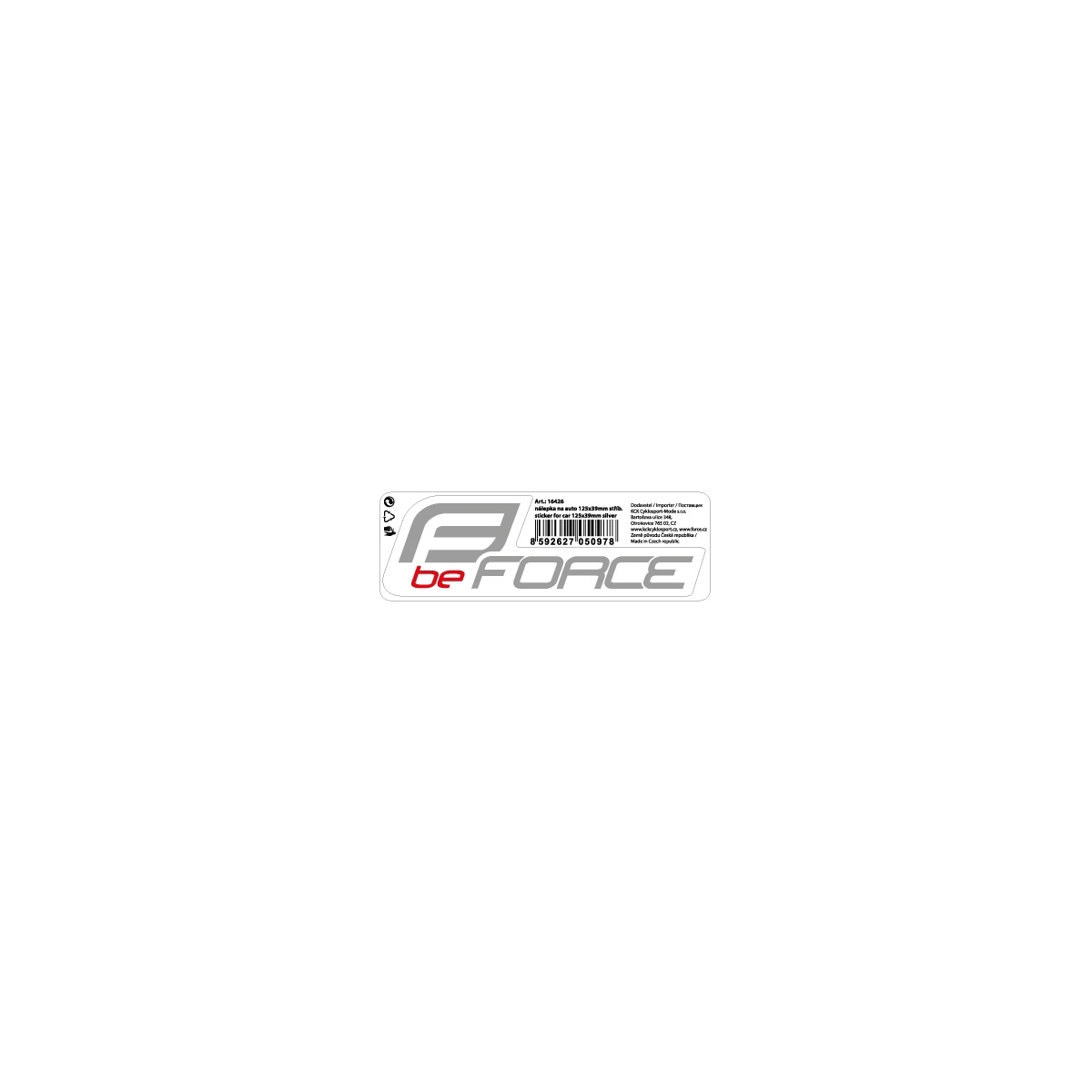 Force Logo Refleks Klistermærke 125 x 39 mm | Reflekser