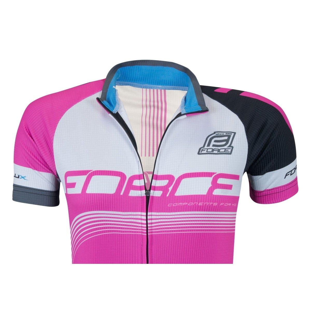 Force Lux jersey kvinde Pink/Hvid/Sort - 299,00 : Cykelgear.dk - Cykelgear.dk