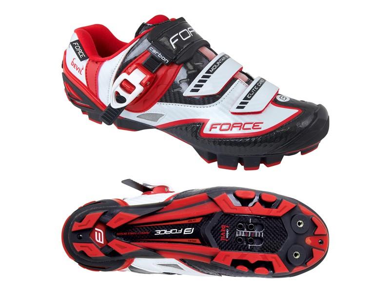 Force MTB Carbon Devil rød/hvid   Shoes and overlays