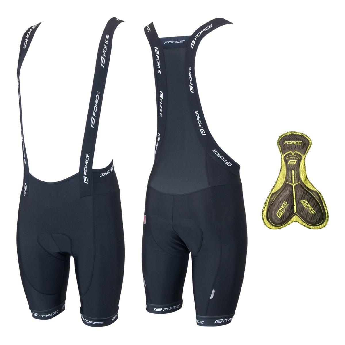 Force B45 shorts med seler og GEL indlæg   Trousers