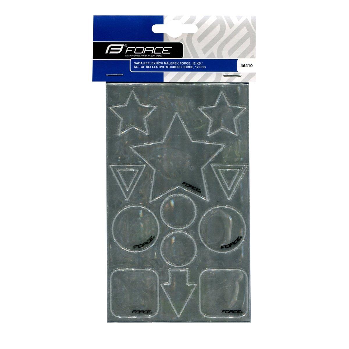 Refleksklistermærker sølv, stjerner mm. | item_misc