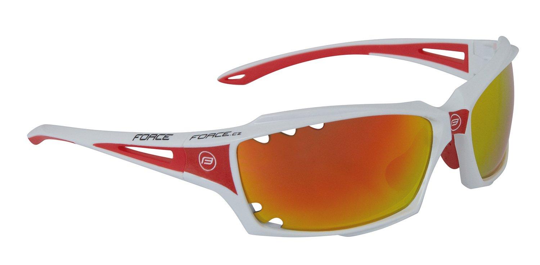 Force Vision Cykelbrille hvid-rød