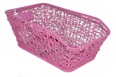 Bagkurv fuglerede flet pink | Bike baskets