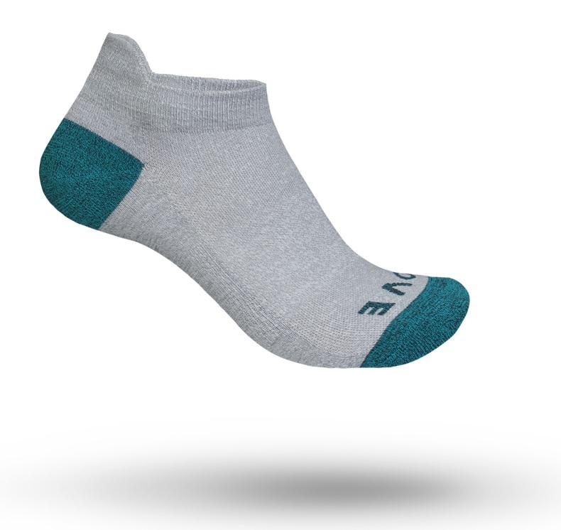 GripGrab No Show women sok grå/grøn | Socks