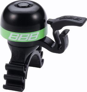 BBB Minifit ringeklokke med elastikmontering sort/grøn - 49,00   Bells