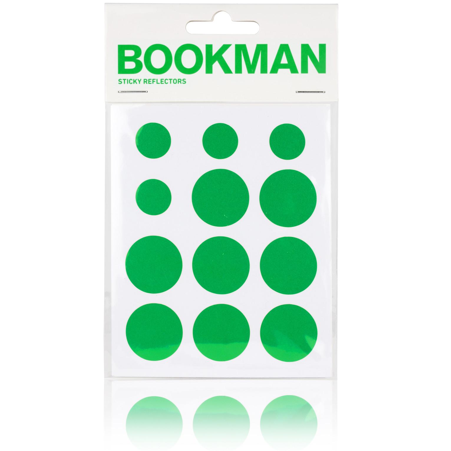 Bookman Stricky Reflectors grønne refleksklistermærker | Reflectives