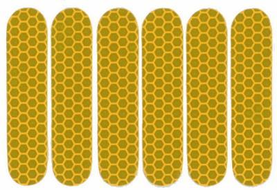 Refleks klistermærker 6 stk. gul | Reflekser