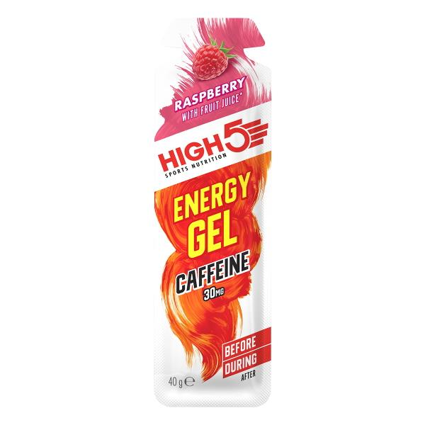 High5 EnergyGel Raspberry+ caffeine 32ml