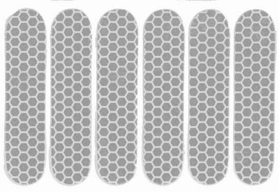 Refleks klistermærker 6 stk. hvid | Reflekser