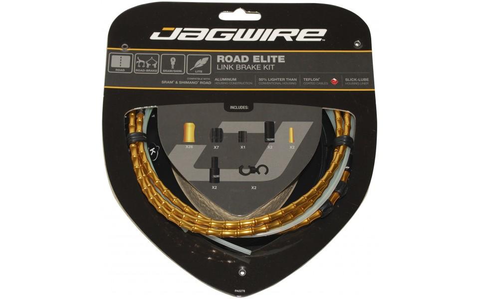 Jagwire Elite Bremse kabelsæt Race Guld   Bremsekabler