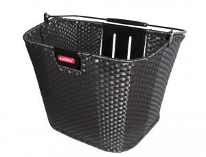 Klickfix Structura fletkurv sort | Bike baskets