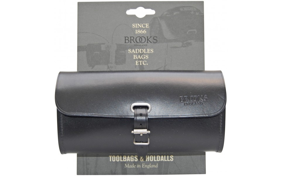 Brooks Challenge sadeltaske sort læder large | Saddle bags