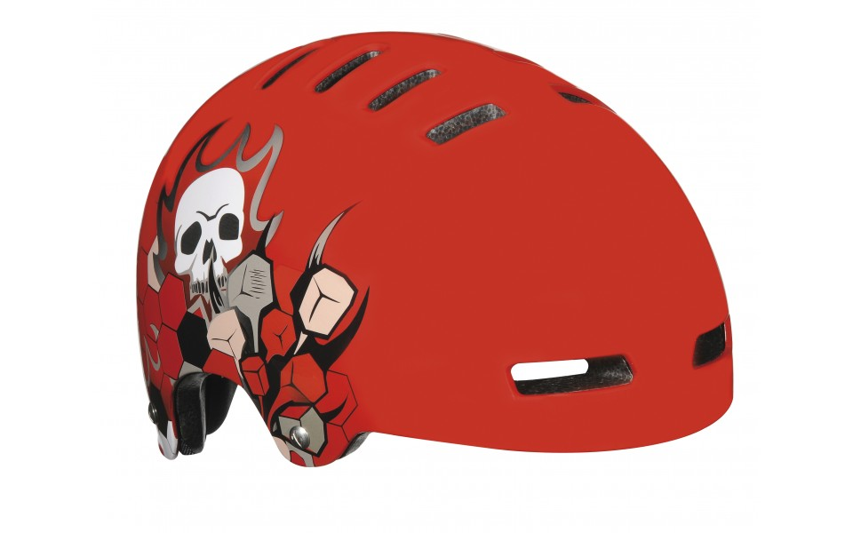 Lazer street skull r�d skalhjelm