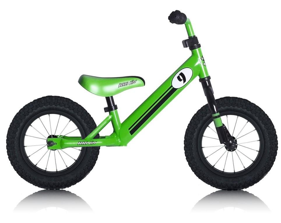 Rebel Kidz Steel Air løbecykel grøn | Løbecykel