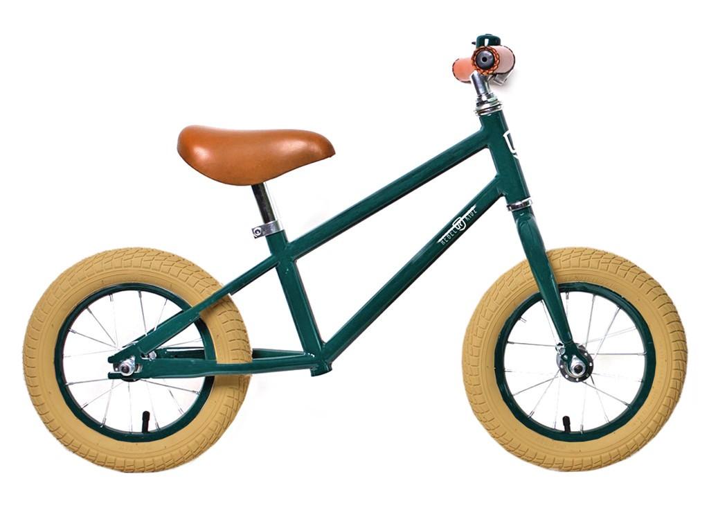 Rebel Kidz Air Classic løbecykel mørke grøn | Learner Bikes