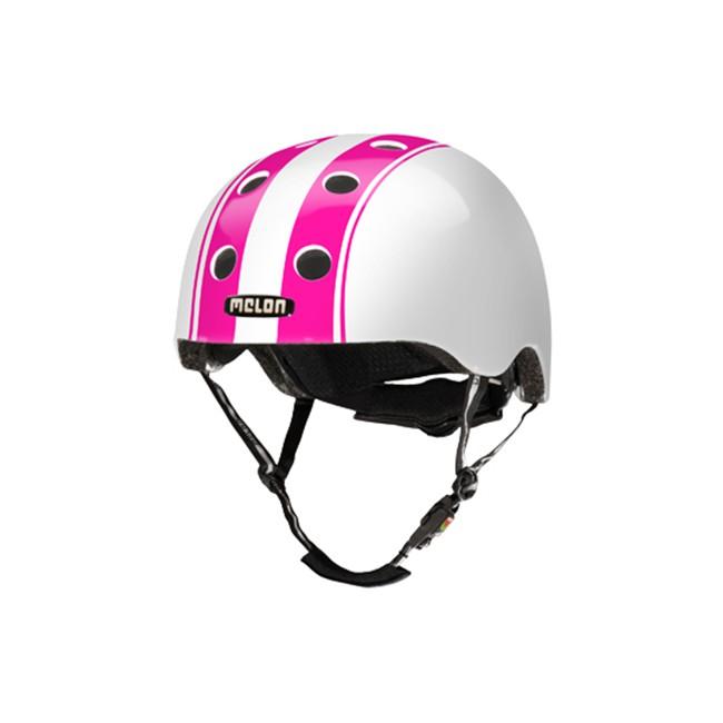 Melon cykelhjelm Double pink hvid   Hjelme
