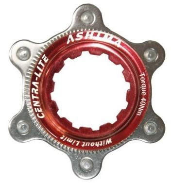 Ashima Adapter fra Center Lock til 6-huller rød   Gafler