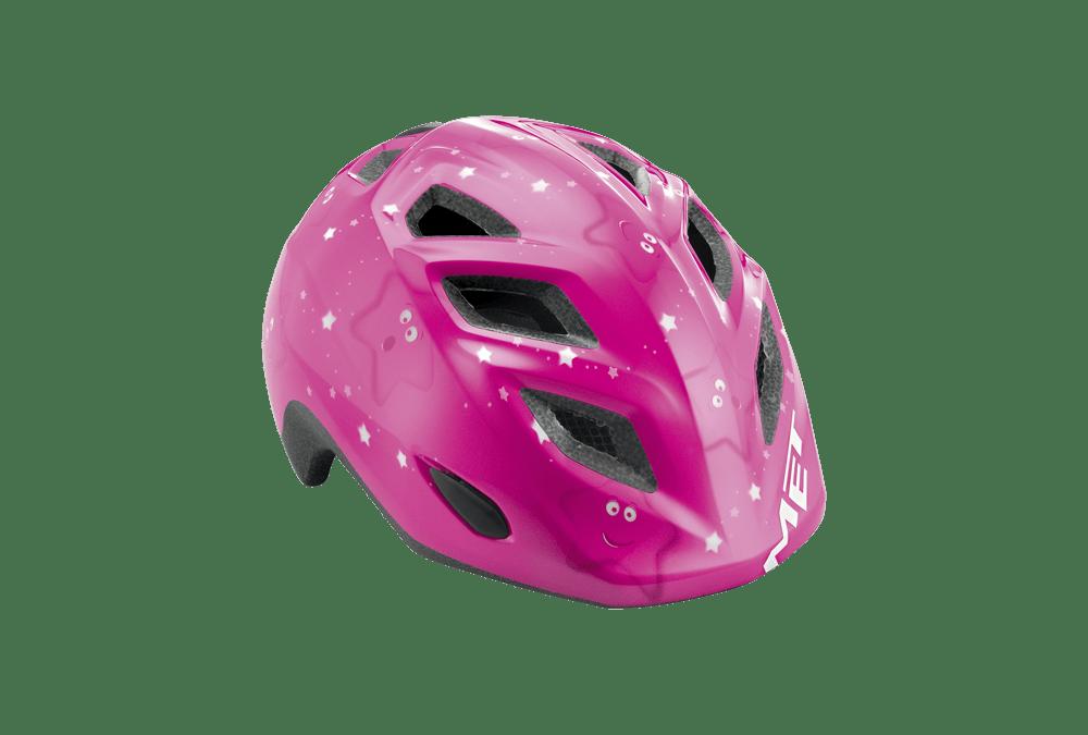 Met Elfo pink Stjerner Børnehjelm Blå 46-53 cm   Hjelme