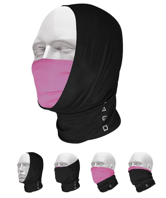 T-One Promask Multifunktionelt tørklæde sort/pink | Headwear