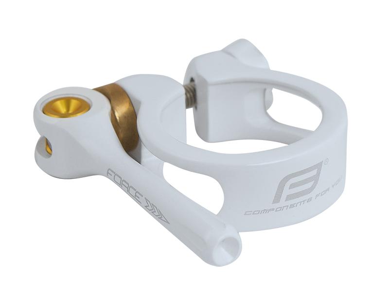 Force sadelrørsklampe med quick release 34,9 hvid | Pedal cleats