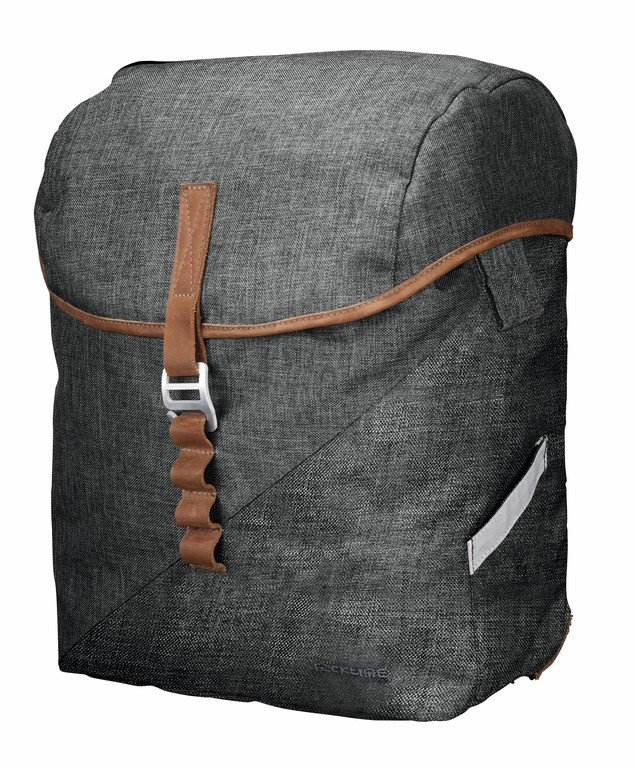 Racktime Mia Sidetaske i kanvas og læder Grå 17,5 liter | Rygsæk og rejsetasker