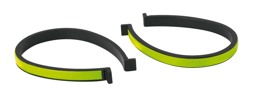 Bukseklampe 2 stk med gul refleks | Reflekser