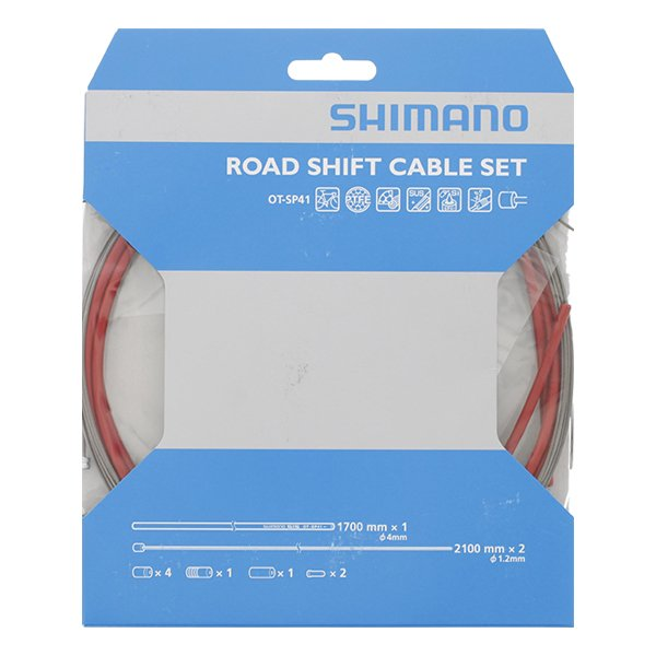 Shimano Gearkabel sæt teflon rød   Gearkabler og wire