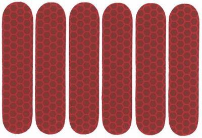 Refleks klistermærker 6 stk. rød