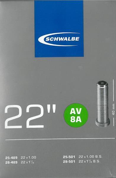Schwalbe slange 22 x 1,00 - 1,25 AV40   Slanger