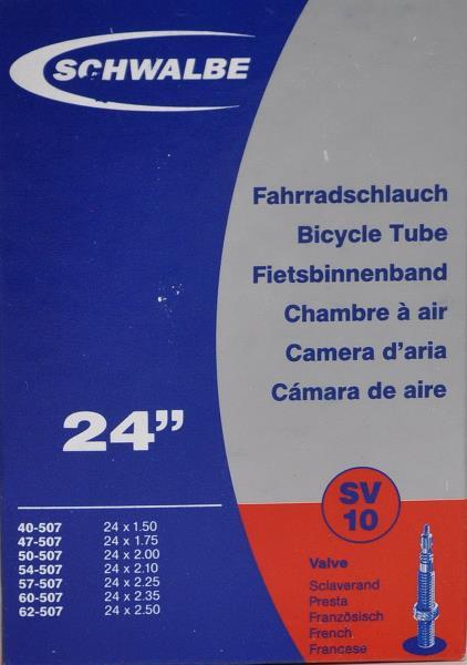 Schwalbe 24 1,50-2,50 (40/62-507) racerventil - 39,00   Valve