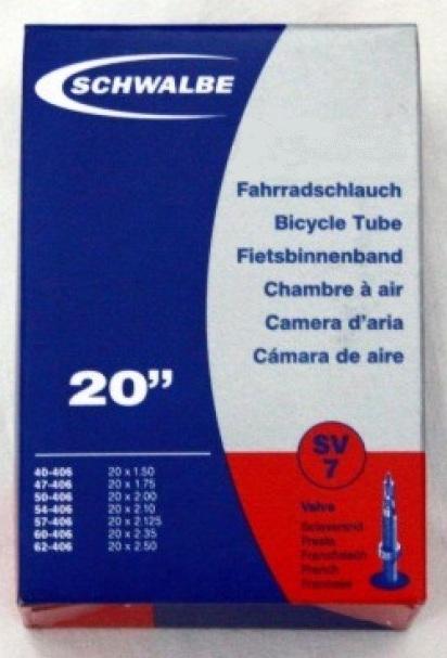 Schwalbe slange 20x1.50-2.50 (40/62-406) SV7 | Slanger