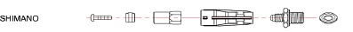 Fittings til Jagwire HyFlow til Shimano XTR/XT/Deore | Gafler