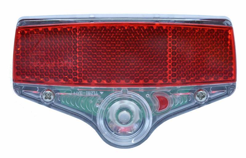 Smart Superflash baglygte 50 mm med refleks | Baglygter