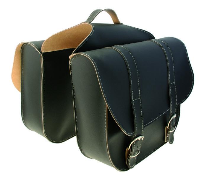 Vintage dobbelt bagagebæretaske brun | item_misc