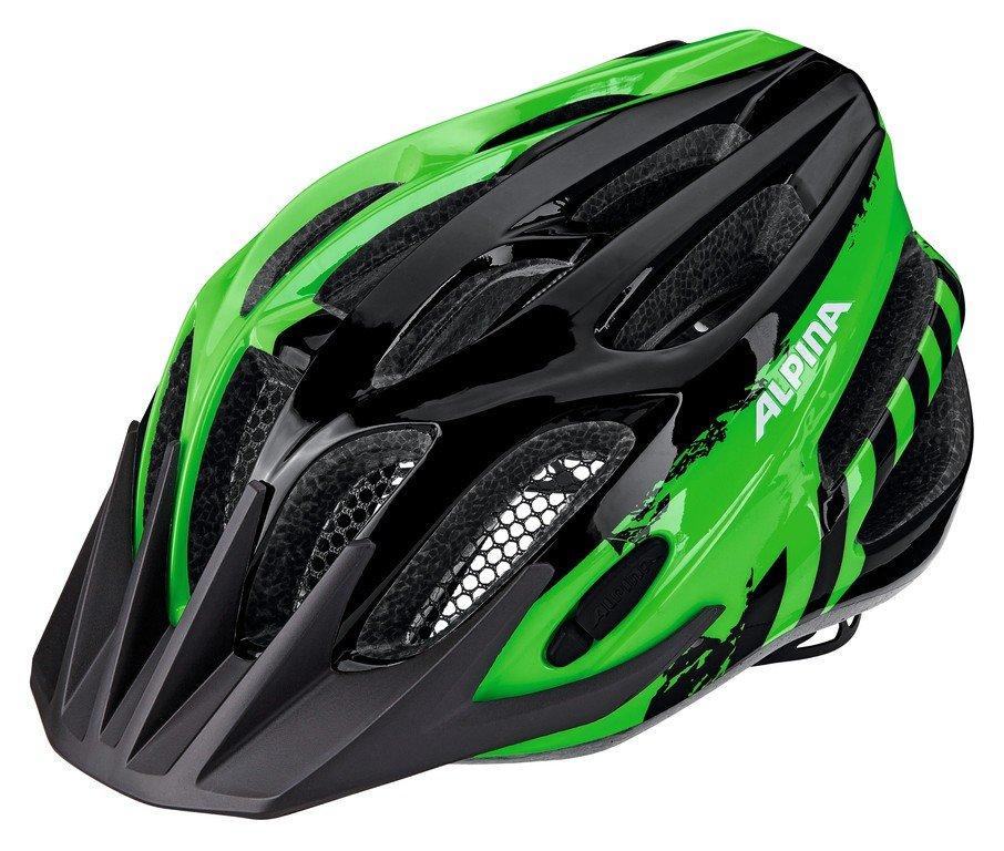 Alpina FB Junior hjelm 51-55 cm Sort/grøn | Hjelme