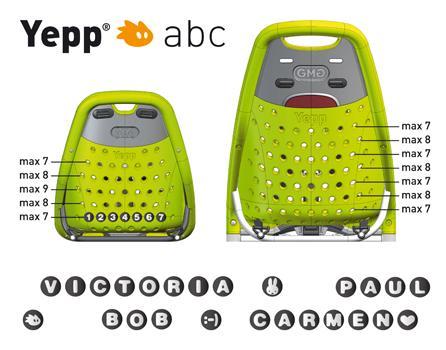 Yepp Klistermærker med symbol / logo | Bike seat