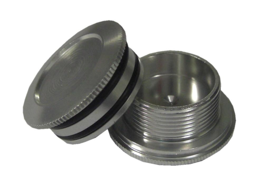 Cover cap til Shimano Hollowtech II kranksæt sølv | item_misc