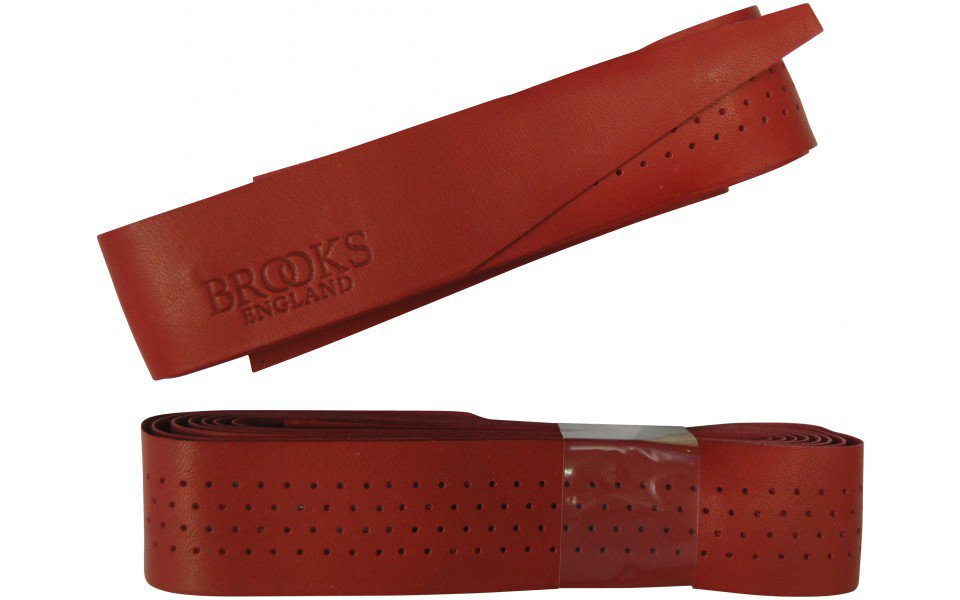 Brooks Læderstyrbånd rød   Styrbånd