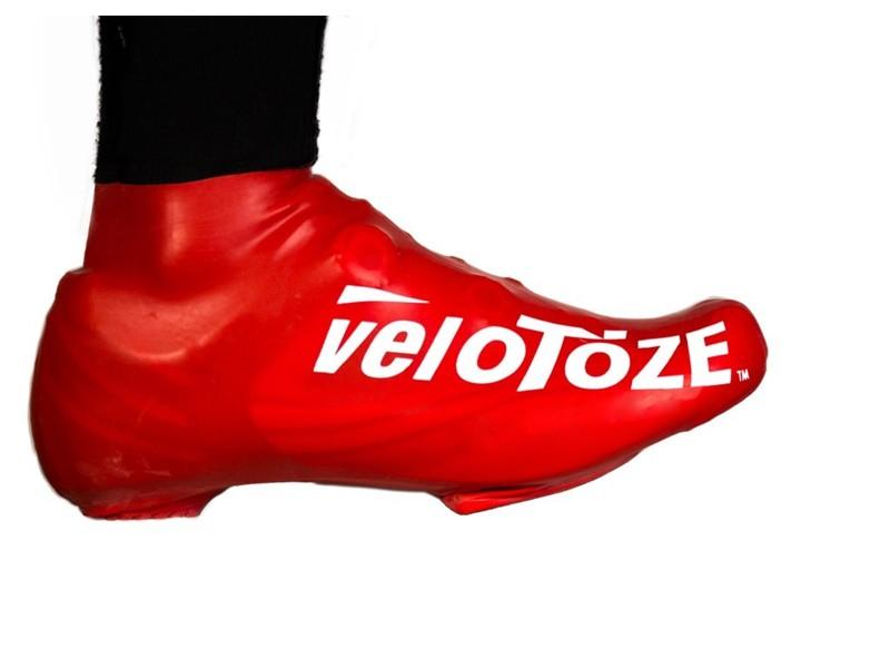 Velotoze skoovertræk short rød   Shoe Covers
