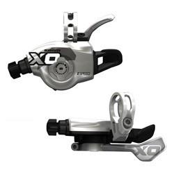 SRAM X0 Skiftegrebs/trigger-sæt 3x10-speed (højre og venstre) sølv | Gear levers