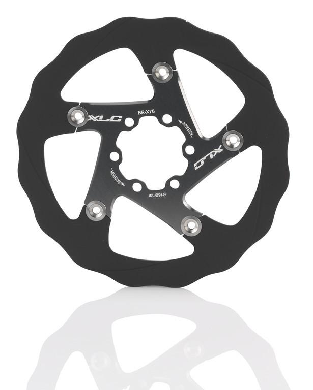XLC M Serie Bremseskive Sort/titan 160 mm 6-huls | Bremseskiver og -klodser