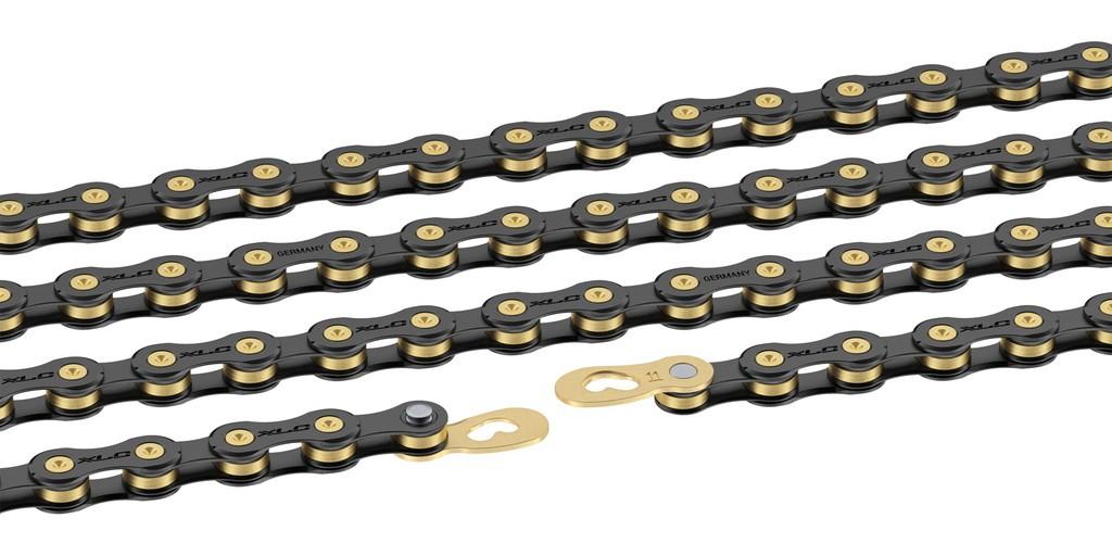 Splinterny XLC 11 Speed Sort/Guld Kæde Med Samleled - 399,00 : Cykelgear.dk UM18