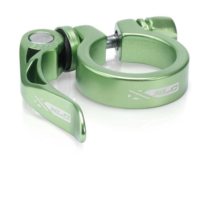 XLC sadelklampe grøn med Quick Release   Sadelrørsklamper