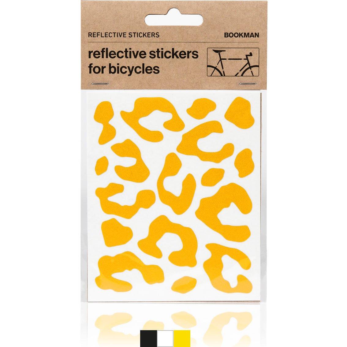 Bookman Sticky Leopard Reflectors gul refleksklistermærker | Reflectives