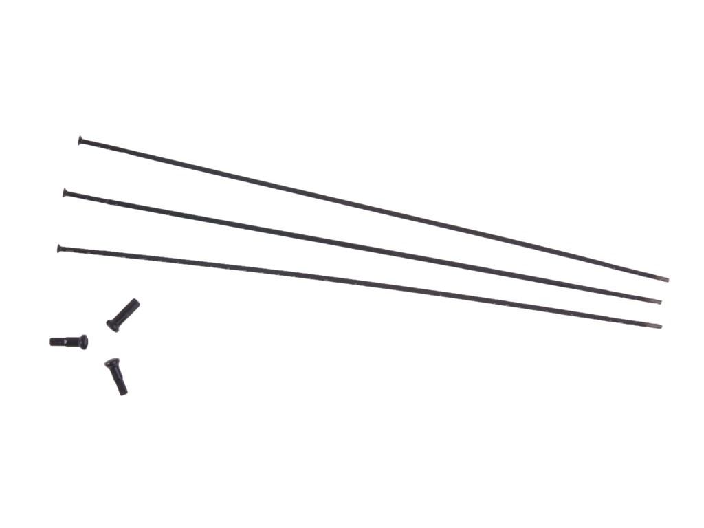 Zipp CX Ray Eger 246 mm Lige Sort 3 stk. | Eger